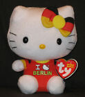 TY HELLO KITTY I LOVE BERLIN BEANIE BABY - MINT w/ MINT TAGS - GERMANY EXCLUSIVE
