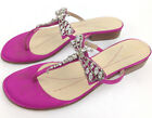 Kate Spade, Women's 7M Pink Satin Crystal Jeweled Dragonfly T-Strap Thong Sandal