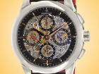 Perrelet Skeleton Automatic Chronograph Date Dual Time Stainless Steel Watch