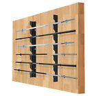 Ollieroo Olympic Barbell Rack Bar Storage Horizontal Wall Mounted Bar Plate Rack