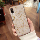 Cover For iPhone 6 6s 6Plus 7 7Plus 8 8 Plus X Gold Foil Bling Marble Pink Soft
