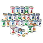 Learning Resources Alphabet Soup Sorters 26 Cans Photos Letters LRNLER6801