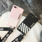 Hot New Trend Off White Soft Silicon Cover Case For iP--hone 6 6s 7 8 Plus cases