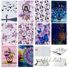 For iPad PU leather Card holder Butterfly Stand Owl tablet case Flip folio cover