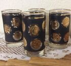 Gold Coin Glasses Tumblers 12 oz Barware or Ice Tea (4)