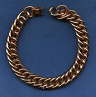 Vintage Mens Solid Copper Chain Link Bracelet Heavy Link 8 3 4 long