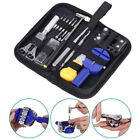 Watch Repair Tool Kit Opener Link Remover Spring Bar Free Hammer Carry Case 2018