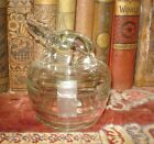 Vintage Clear Glass Covered Powder Box/Trinket Dish ELEPHANT LID Candy Dish