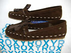New Womens 9 ROXY Corazon Brown Leather Boat Shoes 49