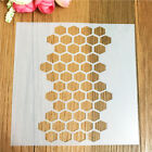 Honeycomb Layering Stencil Template Drawing Spray Scrapbooking Wall Paint Craft