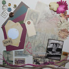 Card Making Kit Paper  Embellishments Makes 5 Cards Geography Great for Guys