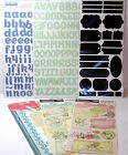 Scrapbook EMBELLISHMENT LOT Baby Stickers Letters Chalkboard Remarks Tags