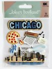 NIP CHICAGO THEMED JOLEES BOUTIQUE STICKERS WINDY CITY PIZZA MUSIC
