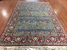 AUTHENTIC VINTAGE PERSIAN QUOM QUM TREE OF LIFE WITH BIRDS ORIENTAL RUG