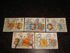1998 GB COMMEMORATIVE STAMPS THE QUEENS BEASTS Set of 5 Used stamps