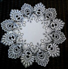 16 Doily Silver Gray Lace Antique White Ivory
