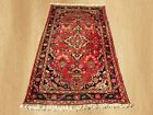 Authentic Hand Knotted Semi Antique Persian Hamadan Wool Area Rug 5 x 3 (4149)
