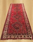Antique Hand Knotted Persian Shiraz Shirazi Wool Area Runner 10 x 4 Ft (4965)