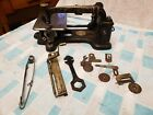 Wilson Antique 1870s curved needle Sewing machine head with parts