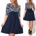 Sexy Womens Bodycon Floral Evening Cocktail Party Beach Dress Sundress Plus Size