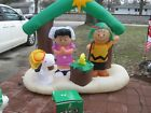 Peanuts Charlie Brown snoopy Nativity Christmas Airblown Inflatable Retired
