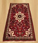 Authentic Hand Knotted Vintage Persian Abshar Wool Area Rug 4 x 2 (4144)