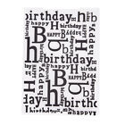 Happy Birthday Plastic Embossing Folders for Scrapbooking Paper Card Making Ws