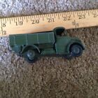 Vintage Dinky Toys Green and Black Dump Truck Diecast Military Vehicle