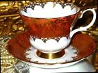 GOLD CHINTZ FLORAL Tea Cup and Saucer