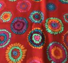 Plink by Kaffe Fassett for Free Spirit Colorful Spheres on Red 100 Cotton