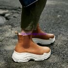 Hottest Trainer Womens Chic Sneakers High Top hot Shoes Ankle Boot Cow Leather