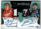 16-17 The Cup Steve Yzerman Joe Sakic Hon. Numbers patch auto # 19 Red Wings Avs
