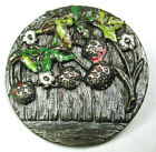 Antique Metal Button Detailed Strawberries w/ Painted Accents - 1