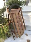 RARE X-Small Antique Vintage Snow King Sled Wood With Metal Slides 26