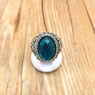 Vintage Jewelry 316L Stainless Steel Fashion Design Hole green Ring Size 9 R18T9