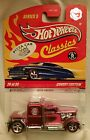 HOT WHEELS CLASSICS SERIES 5 PINK CONVOY CUSTOM REAL RIDERS Rare Pizza sticker