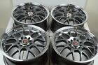 4 New DDR R1 16x7 5x100 1143 35mm Gunmetal Polished Lip 16 Wheels Rims