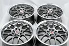 4 New DDR R1 16x7 4x100/114.3 35mm Gunmetal/Polished Lip 16