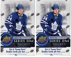 2x 2017-18 Upper Deck Hockey Series 1 sealed hobby box 24 packs of 8 NHL cards