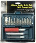 16 Piece Hobby Knife Set Exacto Style Razor for Model Making Crafts Mat Cutting