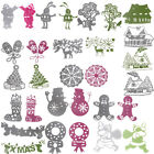 34 Style Christmas Theme Cutting Die Stencil Scrapbook Paper Cards DIY Embossing