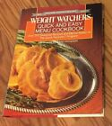 WEIGHT WATCHERS QUICK AND EASY MENU COOKBOOK 1988 HC DJ Color Pix EXCELLENT