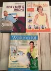 3 Weight Watchers DVDS DVD  Walking Kit  Get Moving Mix  Belly Butt Thighs