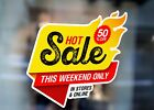 Hot Sale This Weekend Special Store On Large Self Adhesive Window Shop Sign 3481