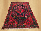Authentic Hand Knotted Semi Antique Persian Hamadan Wool Area Rug 6 x 4 (4550)