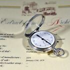 VERY RARE 1879' PATEK PHILIPPE INKING CHRONOGRAPH w/ PAPERS SILVER POCKET WATCH