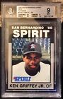 1988 San Bernardino Spirit Best Platinum KEN GRIFFEY JR 1300 BGS 9 Pop = 22