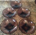Purple Moroccan Amethyst Hazelware 5 Round Vintage Bowls Gorgeous Footed