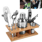 9Pcs Stainless Steel Boston Cocktail Shaker Set Party Bar Accessories Tool Kit