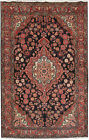 Soft Persian Zanjan Rug Lowest Price Area Rugs Hand-Knotted Rug 4' x 7'